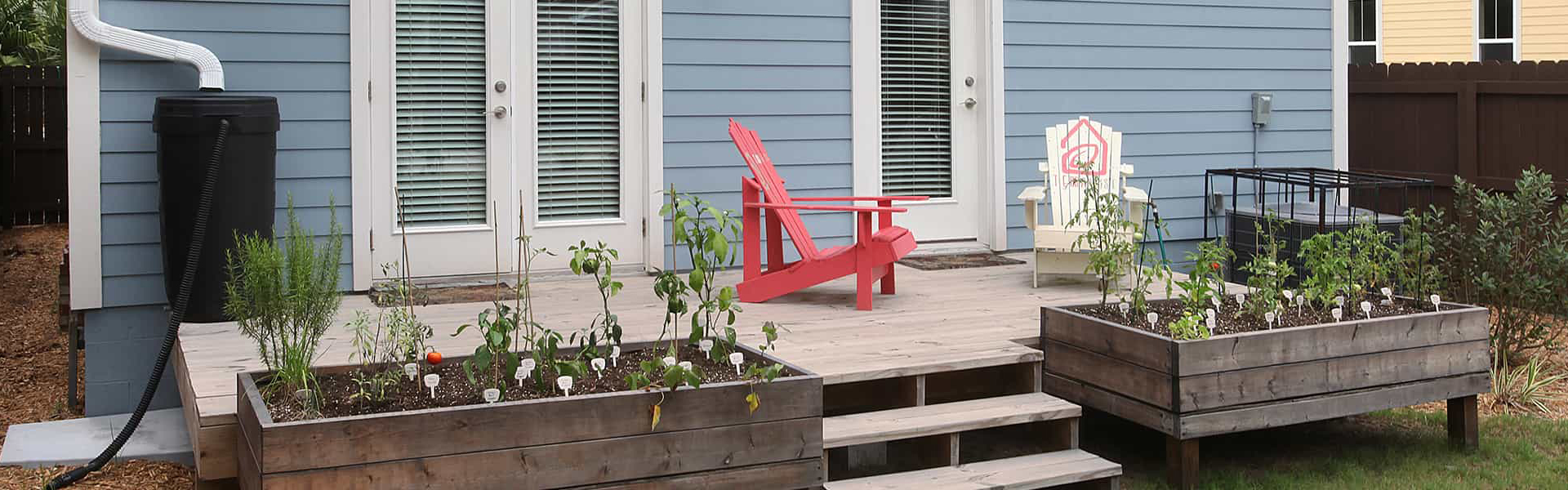 Green Building concepts like downspout collectors available in every TerraWise Home.