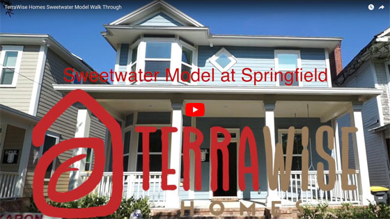 The Springfield Sweetwater Model Home from TerraWise Homes of Jacksonville Florida.